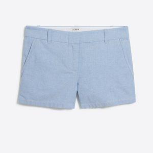 """J. Crew 3"""" Oxford Short Blue Cotton 4"""
